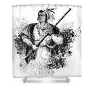Tecumseh, Shawnee Indian Leader Shower Curtain