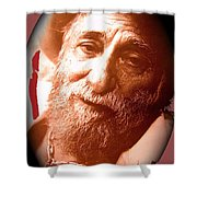 Ted Degrazia Portrait By Henry Redl Circa 1980-2013 Shower Curtain