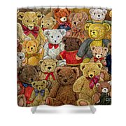 Ted Spread Shower Curtain by Ditz
