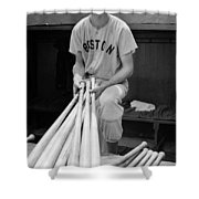 Ted Williams Shower Curtain by Gianfranco Weiss