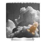 Teddy Bear Cloud Shower Curtain