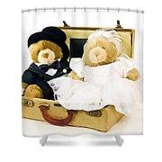 Teddy Bear Honeymoon Shower Curtain
