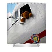 Teddy Bear Pilot Shower Curtain