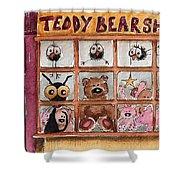 Teddy Bear Shop Shower Curtain