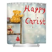 Teddy Bears At Christmas Shower Curtain