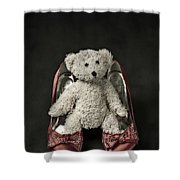 Teddy In Pumps Shower Curtain