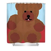 Teddy Snapshot Shower Curtain