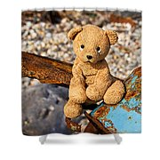 Ted's On The Rust Pile Shower Curtain