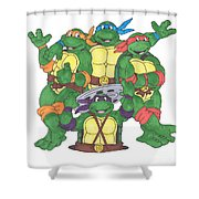 Teenage Mutant Ninja Turtles  Shower Curtain by Yael Rosen