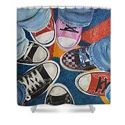 Teens In Converse Tennies Shower Curtain