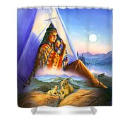 Teepee Of Dreams Shower Curtain