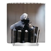 Teki Torch In Snow Shower Curtain