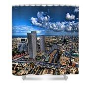 Tel Aviv Center Skyline Shower Curtain