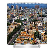 Tel Aviv Eagle Eye View Shower Curtain