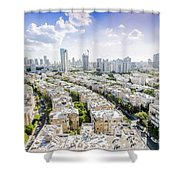 Tel Aviv Israel Elevated View Shower Curtain