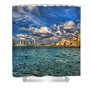 Tel Aviv Jaffa Shoreline Shower Curtain