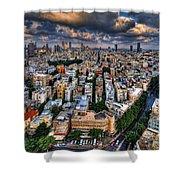 Tel Aviv Lookout Shower Curtain