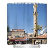 Tel Aviv Old Town Street Shower Curtain