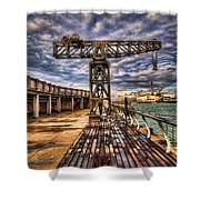 Tel Aviv Port At Winter Time Shower Curtain