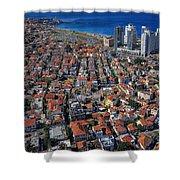 Tel Aviv - The First Neighboorhoods Shower Curtain