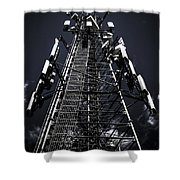 Telecommunications Tower Shower Curtain
