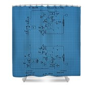 Telegraph Blueprint Patent Shower Curtain