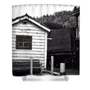 Telegraphing Home Shower Curtain