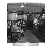 Telephone Exchange, 1915 Shower Curtain