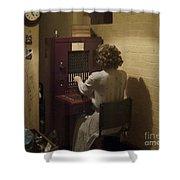 Telephone Operator Shower Curtain