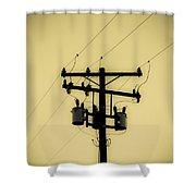 Telephone Pole 1 Shower Curtain