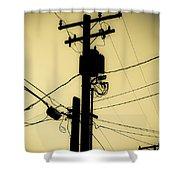 Telephone Pole 2 Shower Curtain