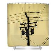 Telephone Pole 4 Shower Curtain