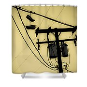 Telephone Pole And Sneakers 1 Shower Curtain
