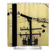 Telephone Pole And Sneakers 5 Shower Curtain by Scott Campbell