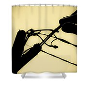Telephone Pole And Sneakers 6 Shower Curtain
