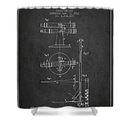 Telescope Telemeter Patent From 1916 - Charcoal Shower Curtain