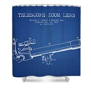 Telescope Zoom Lens Patent From 1999 - Blueprint Shower Curtain