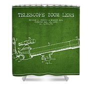Telescope Zoom Lens Patent From 1999 - Green Shower Curtain