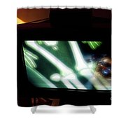 Television And Light  Shower Curtain