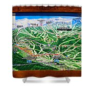 Telluride Ski Map Detail  Shower Curtain