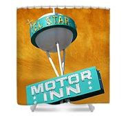 Telstar Motor Inn - Orange Shower Curtain