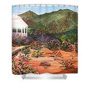 Temecula Heritage Rose Garden Shower Curtain