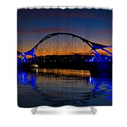 Tempe Town Lake At Sunset  Shower Curtain