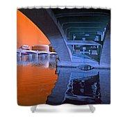 Tempe Town Lake Bridges Shower Curtain