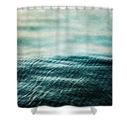 Tempest Ocean Landscape In Shades Of Teal Shower Curtain