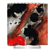 Tempest - Red And Black Painting Shower Curtain