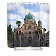 Tempio Maggiore  The Great Synagogue Of Florence Shower Curtain
