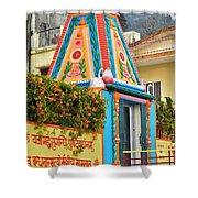 Colorful Temple - Rishikesh India Shower Curtain