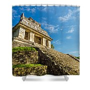 Temple And Blue Sky Shower Curtain