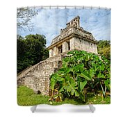 Temple And Foliage Shower Curtain